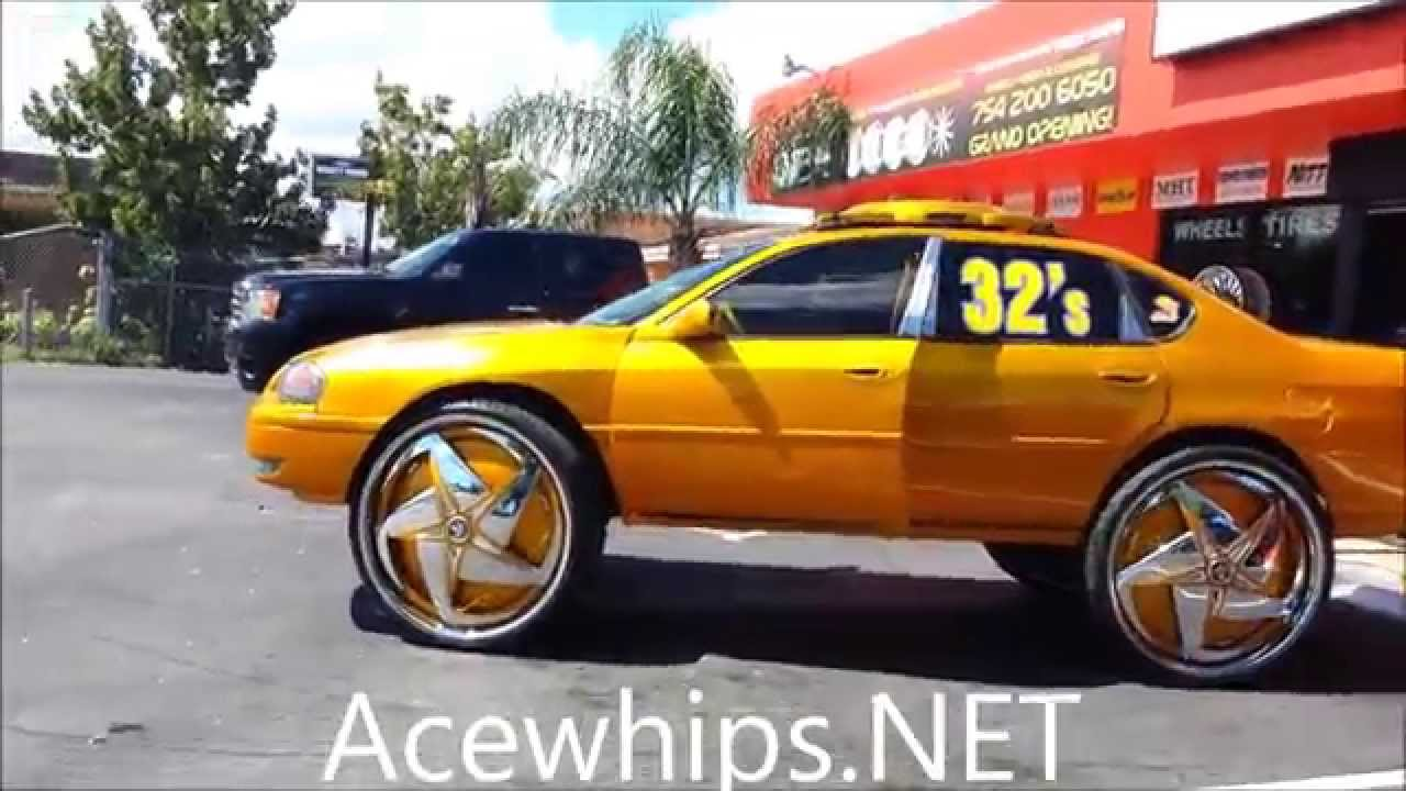 Acewhipsnet Vons Candy Gold Chevy Impala On 32 Dub Swerv
