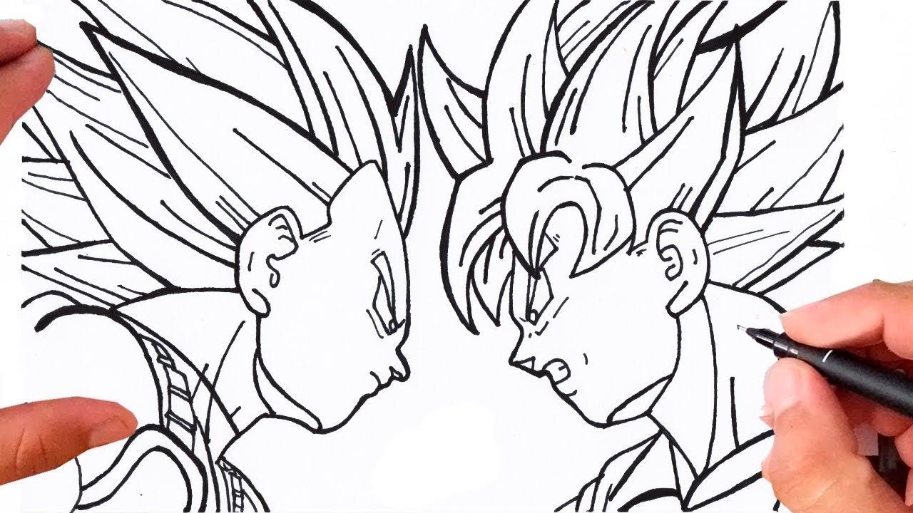 Desenhos Para Colorir Colorir Goku: Como Desenhar O GOKU Vs VEGETA