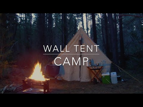 Wall tent c& & Wall tent camp - YouTube