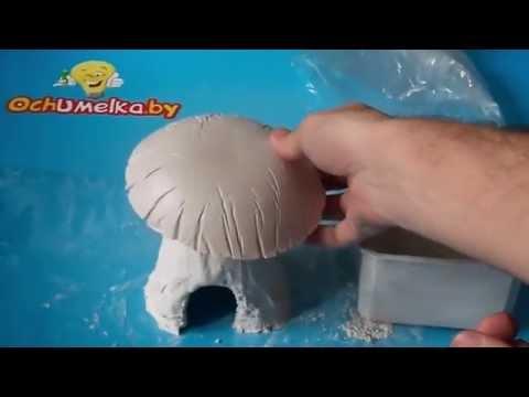 видео: Домик-гриб из гипса своими руками без спец. инструментов и форм.