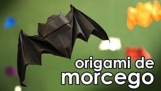 Como fazer o origami do morcego da boa sorte (dobradura com técnica wet folding) - Bat origami