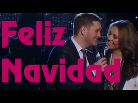 Michael Buble Thalia Feliz Navidad Lyrics Youtube