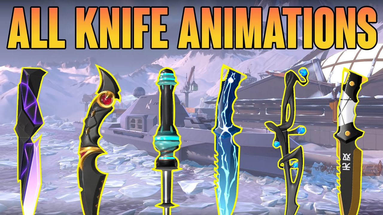 ALL KNIFE ANIMATIONS *UPDATED* - VALORANT KNIFE  SKINS