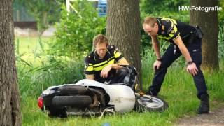 Scooterrijder gewond bij eenzijdig ongeval in Punthorst