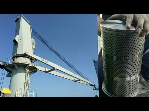 IHI deck crane oil filter cleaning and maintenance