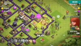 Me atacaram ao Vivo + Layout Anti PT,Push-CV 8(Clash of Clans)