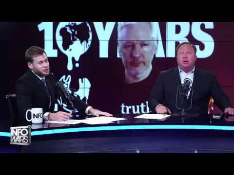 "Alex Jones to Julian Assange ""MOVE BITCH, GET OUT THE WAY"" HILARIOUS"