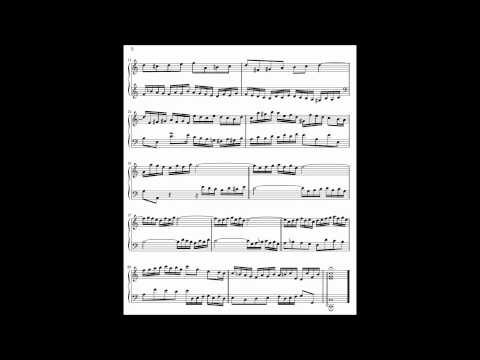 Bach - Invention No. 1 in C Major, BWV 772 with Sheet Music