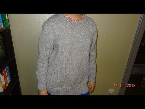 Вяжем базовый пуловер. Часть 3. Завершение