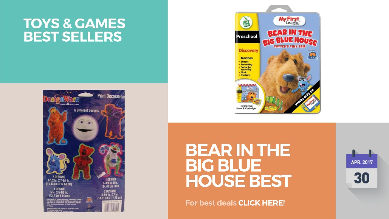 bear in the big blue house best toys toys u0026 games best sellers