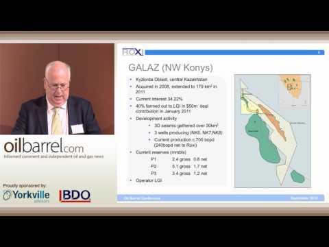 54th Oilbarrel Conference - Roxi Petroleum - Clive Carver, Chairman - 13/9/12