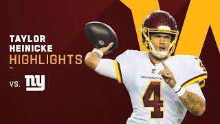 Taylor Heinicke's Best Plays vs. Giants on 'TNF'   NFL 2021 Highlights