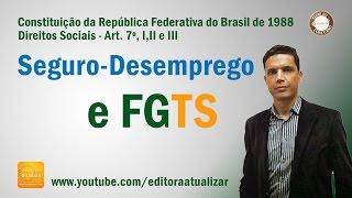 CF88 - Art. 7°, I, II e III  (Seguro Desemprego e FGTS)