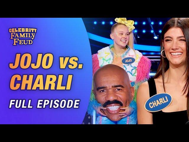 JoJo Siwa vs. Charli D'Amelio! Extended full episode w/ bonus content!   Celebrity Family Feud