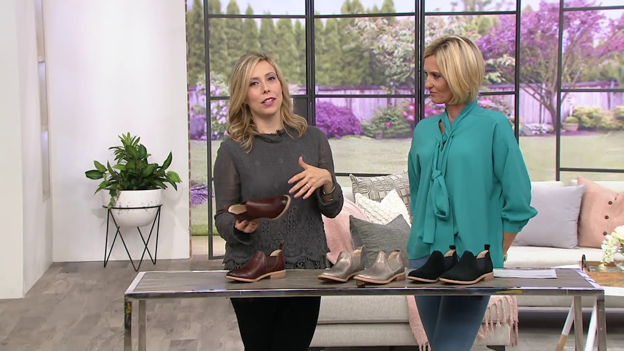 2019 best sell lowest discount delicate colors Clarks Leather Slip-on Booties - Edenvale Page on QVC
