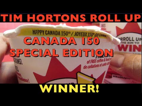 TIM HORTONS ROLL UP CANADA 150 SPECIAL EDITION (FIRST IN CANADA WINNER)