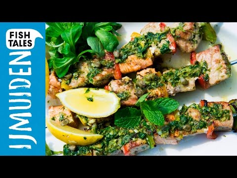 TUNA, SALMON & SWORDFISH Fish Skewers | Bart's Fish Tales