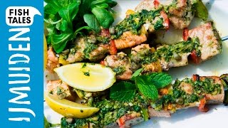 Tuna, Salmon & Swordfish Skewers | Bart's Fish Tales