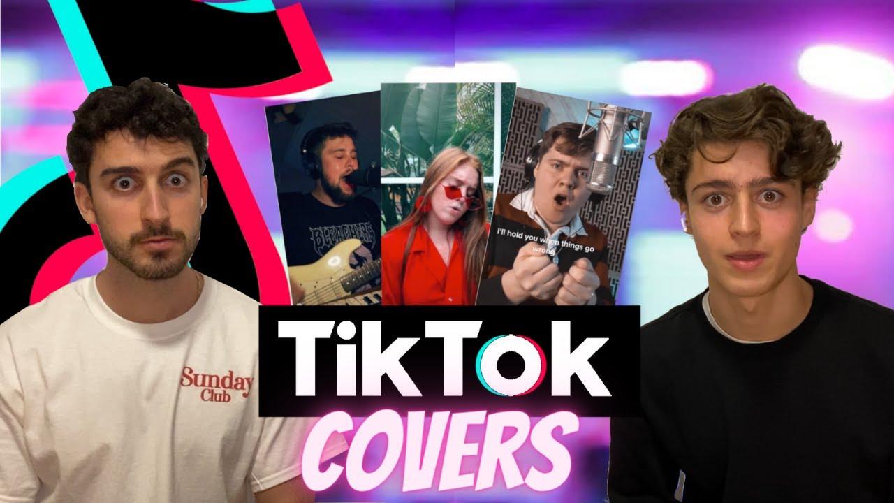 REACCIONANDO a COVERS VIRALES de TIKTOK... MEJORES que las ORIGINALES? 👁👄👁