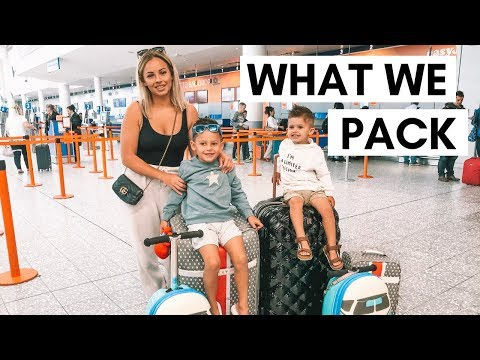 FAMILY HOLIDAY PACK WITH ME | FAMILY OF 4 | Lucy Jessica Carter