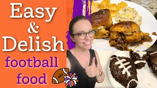 EASY FOOTBALL FOOD  FOOTBALL SNACKS &amp APPETIZERS  YUMMY FINGER FOODS