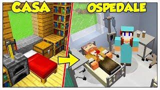 TRASFORMIAMO LA MIA CASA IN OSPEDALE! - Minecraft ITA