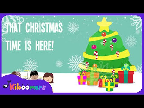 Christmas Time Is Here | Kids Christmas Songs | Lyrics | Preschool Songs