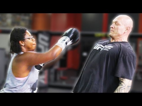 Regular People Try Punching A UFC Fighter