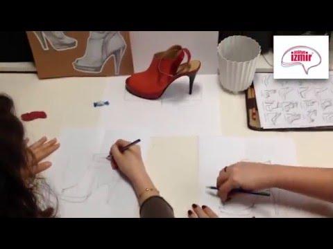 Moda Tasarım - Karakalem Ayakkabı Tasarımı