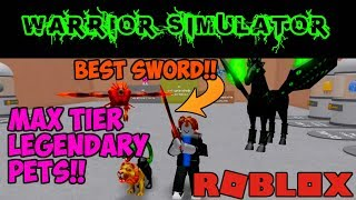 BEST PLAYER IN WARRIOR SIMULATOR!! (Roblox)