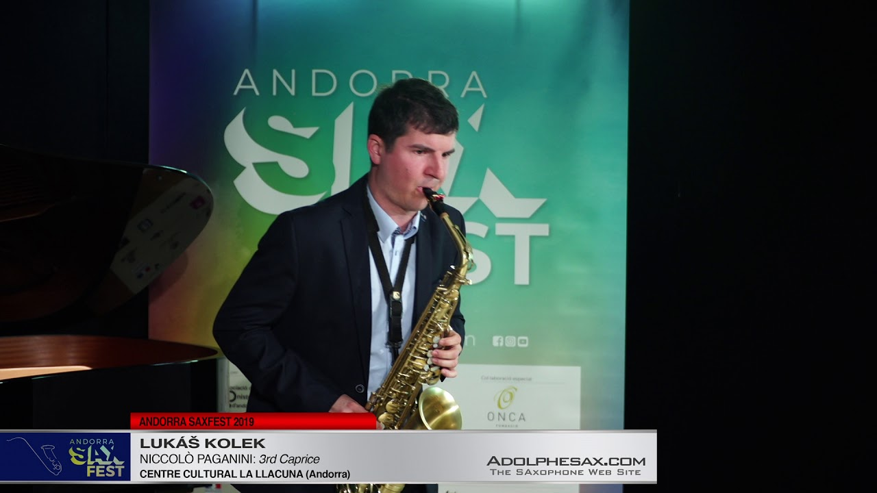 Andorra SaxFest 2019 1st Round   Lukas Kolek   3rd Caprice by Niccolo Paganini