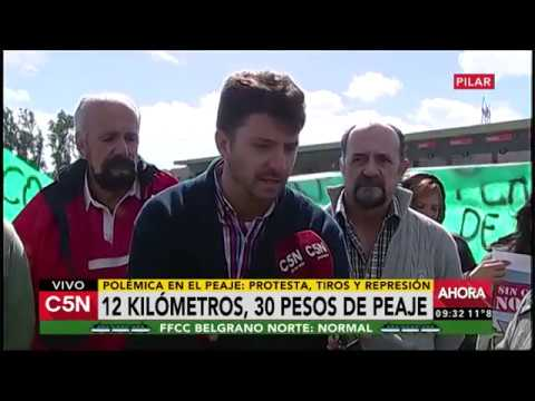 C5N - Sociedad: Polémica en un peaje de Pilar por el cobro de 30 pesos por 12 kilómetros