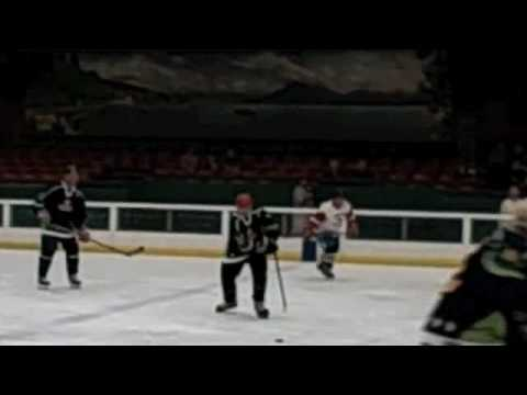 88-yr-old Ice Hockey Player, Mark Sertich in action
