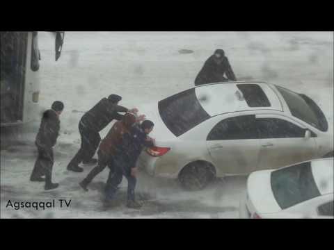 Bakiya Qar Yagir - Yollar Baglanib - Masinlar Sürüşür -2017 - fevral 17
