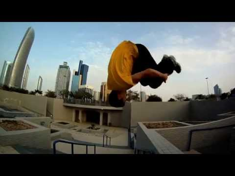 News report about parkour in the UAE.