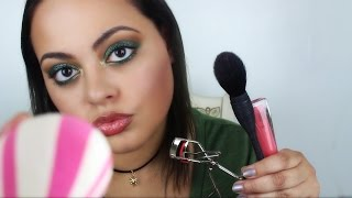 ASMR Makeup Roleplay (personal attention, mouth sounds, tapping)