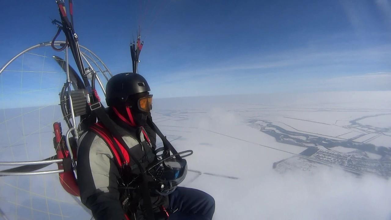 Полёт за облака с парамотором иж.