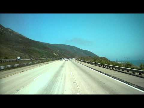 Time Lapse Santa Barbara to Malibu HD road trip