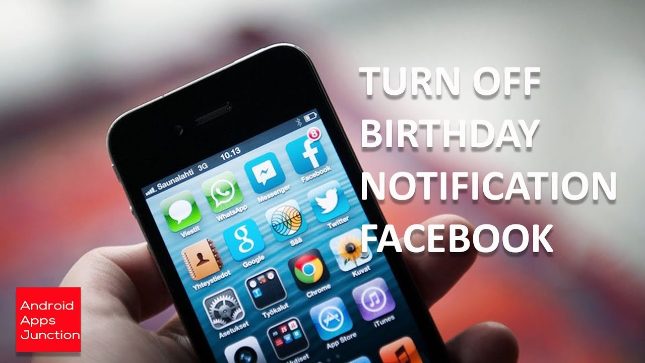 Free Birthday Reminder App ~ How to turn off birthday notification on facebook youtube