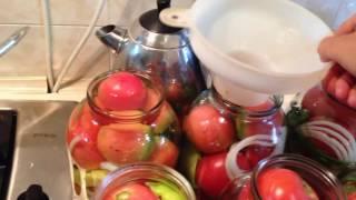 Консервируем помидоры! Вкусный рецепт!