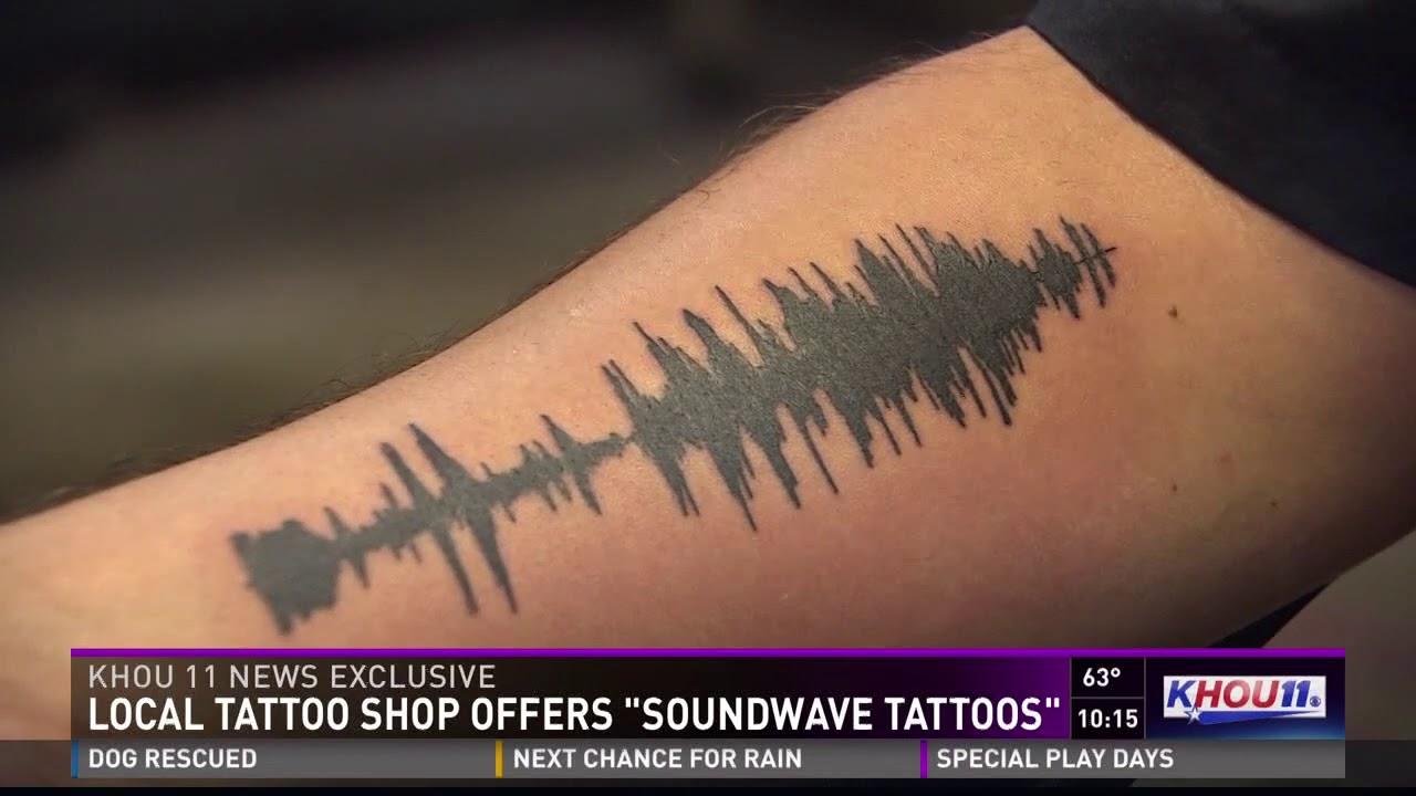 Local tattoo shop offers 'soundwave tattoos'