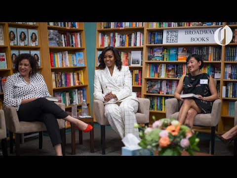 Michelle Obama meets with Portland book club at Broadway Books
