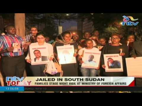 Jailed in South Sudan: Families stage night vigil at ministry of foreign affairs