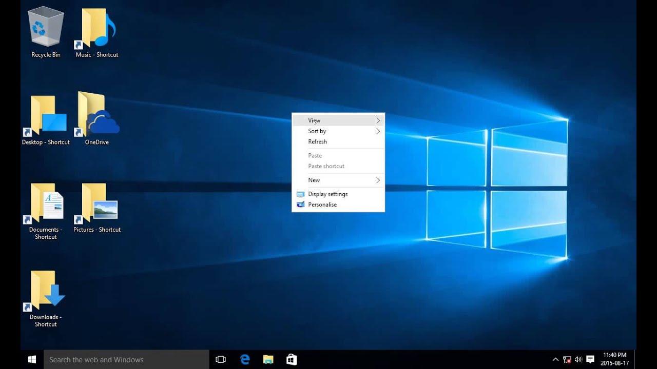 windows 10 show desktop icons  hide desktop icons