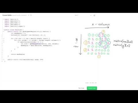 Algorithms: Solve 'Connected Cells' Using DFS