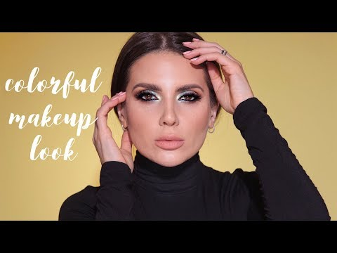 COLORFUL MAKEUP LOOK WITH TROPIC PALETTE | ALI ANDREEA