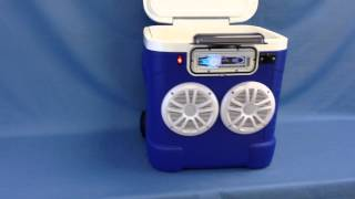 60qt Cooler Stereo / Radio Cooler / Ice Chest With Speakers By Icechestradios.net