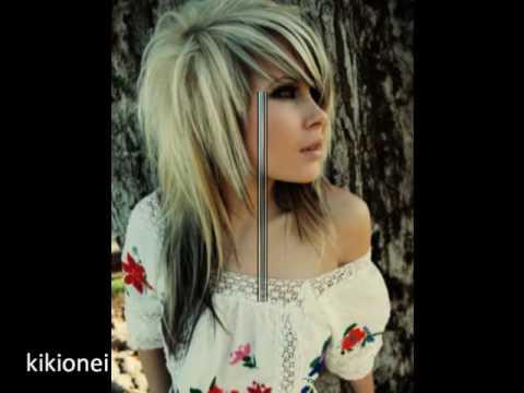 scene hair pink black blue blonde
