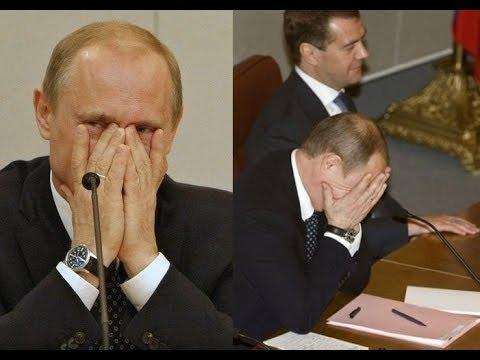 Туповатые министры рассмешили Путина до слёз