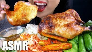 ASMR WHOLE ROTISSERIE CHICKEN & KIMCHI (SPICY CHILI SAUCE) *NO TALKING* | ASMR Phan